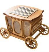 Стол шахматный с баром в виде кареты 9