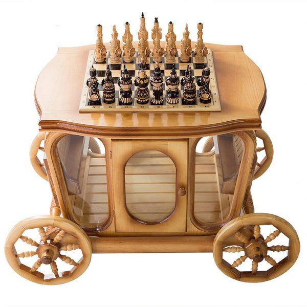 Стол шахматный с баром в виде кареты 5