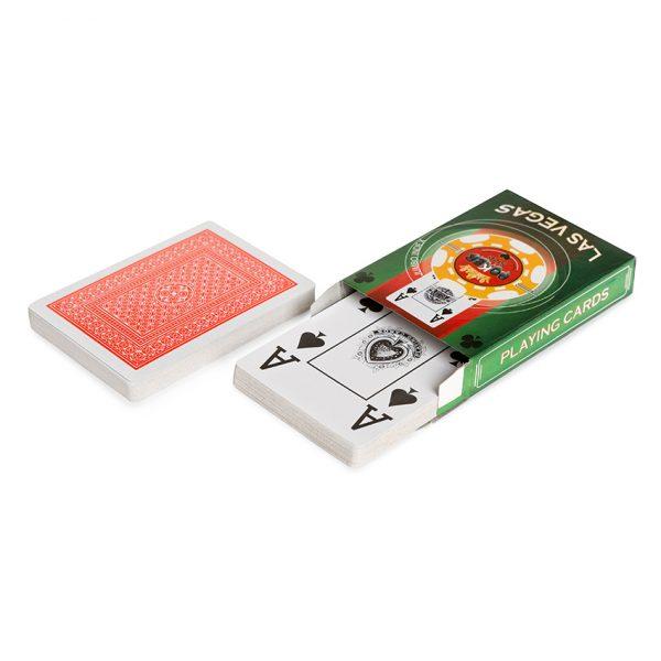 """Карты для покера """" Las Vegas"""" пластиковое покрытие"""