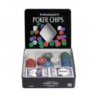 Набор для покера Holdem Light на 100 фишек с номиналом
